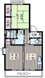 3337-コーポプリムローズ[1階]の間取り