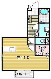 ビクトワール[2階]の間取り