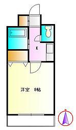 神奈川県秦野市柳町1丁目の賃貸アパートの間取り