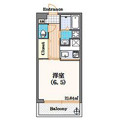 il bianco[3階]の間取り