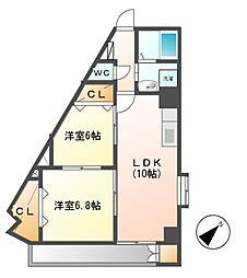 Medio18[4階]の間取り