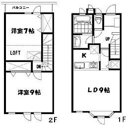 [テラスハウス] 東京都杉並区下高井戸3丁目 の賃貸【/】の間取り