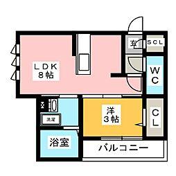 仮)D-room加納徳川町Y 1階1LDKの間取り