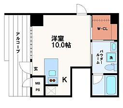 KWレジデンス堺筋本町[1階]の間取り