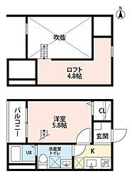 LIANGE栄生(リアンジェサコウ)[203号室]の間取り