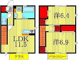 仮称)D-roomTV岩井[102号室]の間取り