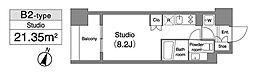 プラウドフラット笹塚[4階]の間取り