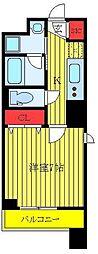 クレストコート志村坂上 6階1Kの間取り