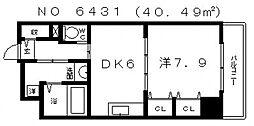 ラフォルテ日本橋[508号室号室]の間取り