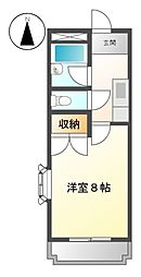 愛知県名古屋市緑区神沢1丁目の賃貸マンションの間取り