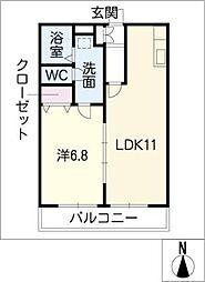 マ・メゾンII[3階]の間取り