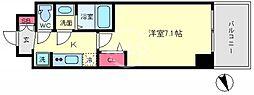 プレサンスOSAKA DOMECITYクロスティ(プレサンスオオサカドーム 7階1Kの間取り