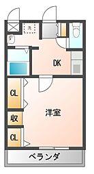 ボワリジェールOKA[5階]の間取り