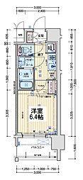 アドバンス新大阪ウエストゲートII 12階1Kの間取り