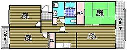 サンモール田中[2階]の間取り
