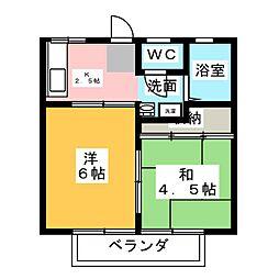 菅又ハイツ[1階]の間取り