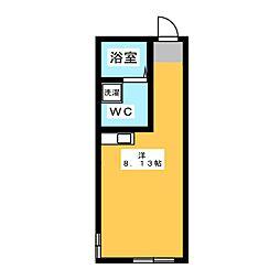 BACE中野島 1階ワンルームの間取り