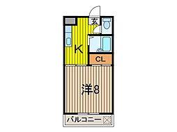 富士ハイム[3階]の間取り