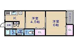ユニライフマンション[3階]の間取り