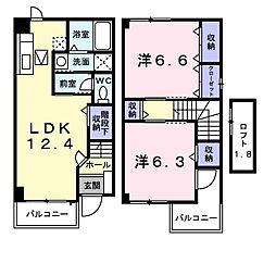 イーストガーデン[2階]の間取り