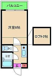大阪府大阪市北区菅栄町の賃貸アパートの間取り