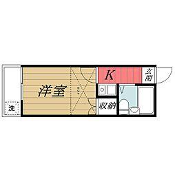 千葉県千葉市中央区弁天3丁目の賃貸アパートの間取り