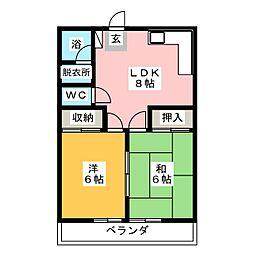 サウスタウン[2階]の間取り