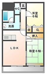 KSIIマンション[1階]の間取り