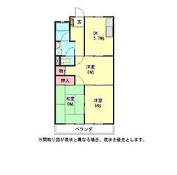 愛知県一宮市今伊勢町本神戸字四ツ割の賃貸アパートの間取り