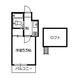 ラサバンナ三宅[1階]の間取り