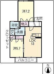 グレース I[2階]の間取り