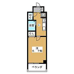 アスヴェル京都御所前II[3階]の間取り