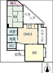 桜井ハイツ[4階]の間取り