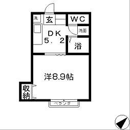 E・Kハイツ2[1階]の間取り