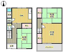 [テラスハウス] 大阪府箕面市如意谷1丁目 の賃貸【/】の間取り