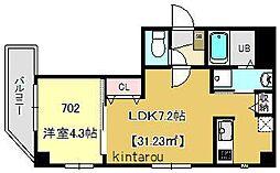 テラス東浅草[7階]の間取り