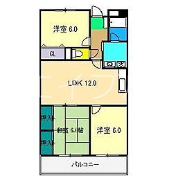グランドール桜井[9階]の間取り
