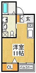 エヌエムヴァンサンク[1階]の間取り