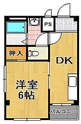 市栄マンション[2階]の間取り