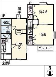 [タウンハウス] 三重県亀山市亀田町 の賃貸【/】の間取り