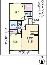 メルベーユMII[3階]の間取り