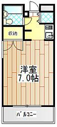 神奈川県伊勢原市東大竹2丁目の賃貸マンションの間取り