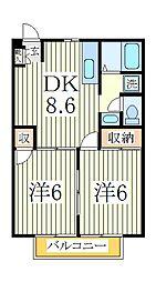 グリーンハウスA[2階]の間取り