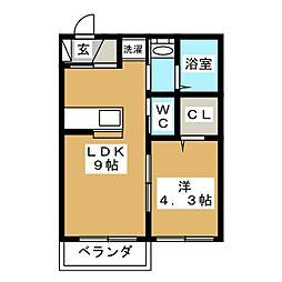 クレストIII[2階]の間取り