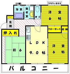 イーストガーデン II[3階]の間取り