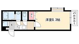 愛知県名古屋市昭和区八雲町の賃貸アパートの間取り