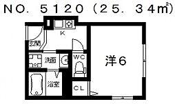 ウイング[3階]の間取り