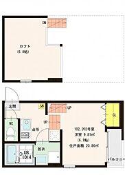 仮称)山科区東野舞台町・SKHコーポB号地[2階]の間取り
