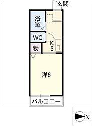 モナークB棟[1階]の間取り
