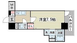 カシータ神戸元町JP[602号室]の間取り